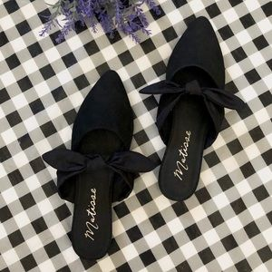 Matisse black Calle Bow mule